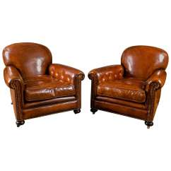 Leather Club Chairs For Sale Contour Chair Lounge French At 1stdibs