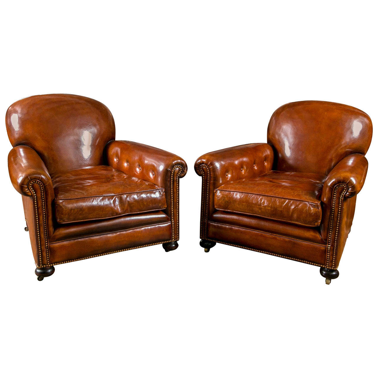 French Club Chair French Leather Club Chairs For Sale At 1stdibs