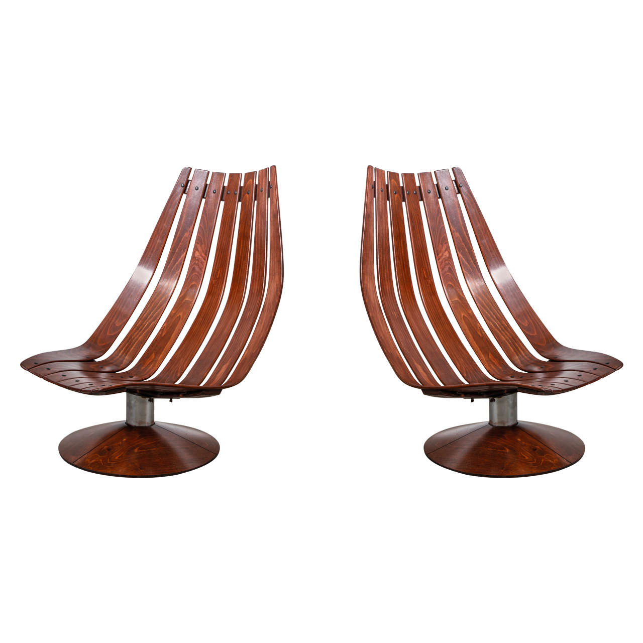 revolving lounge chair upholstered chairs set of two artifort easy at 1stdibs