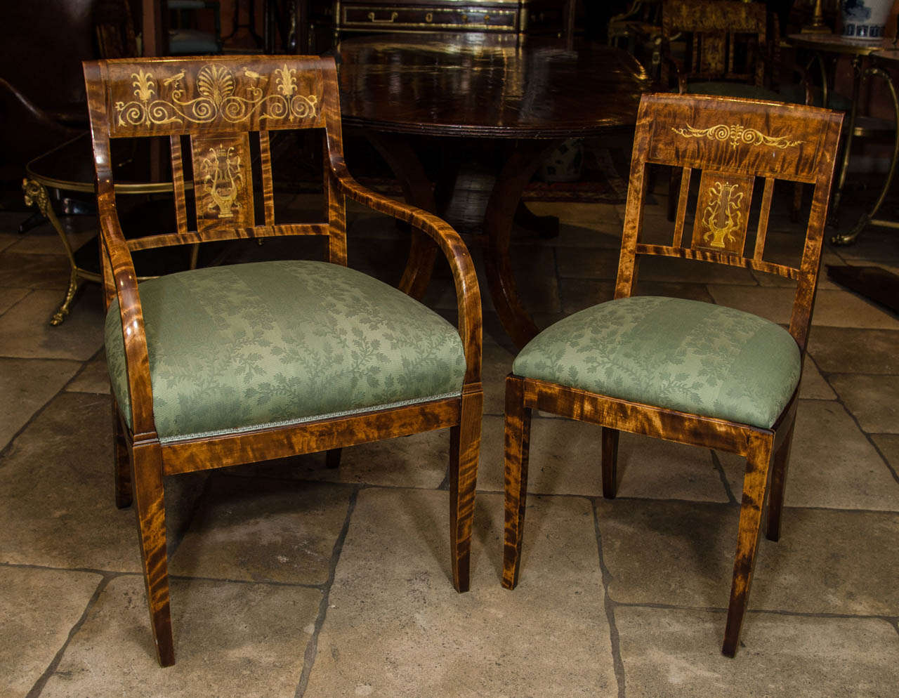 unusual dining chair grey side set of six french charles x chairs at 1stdibs