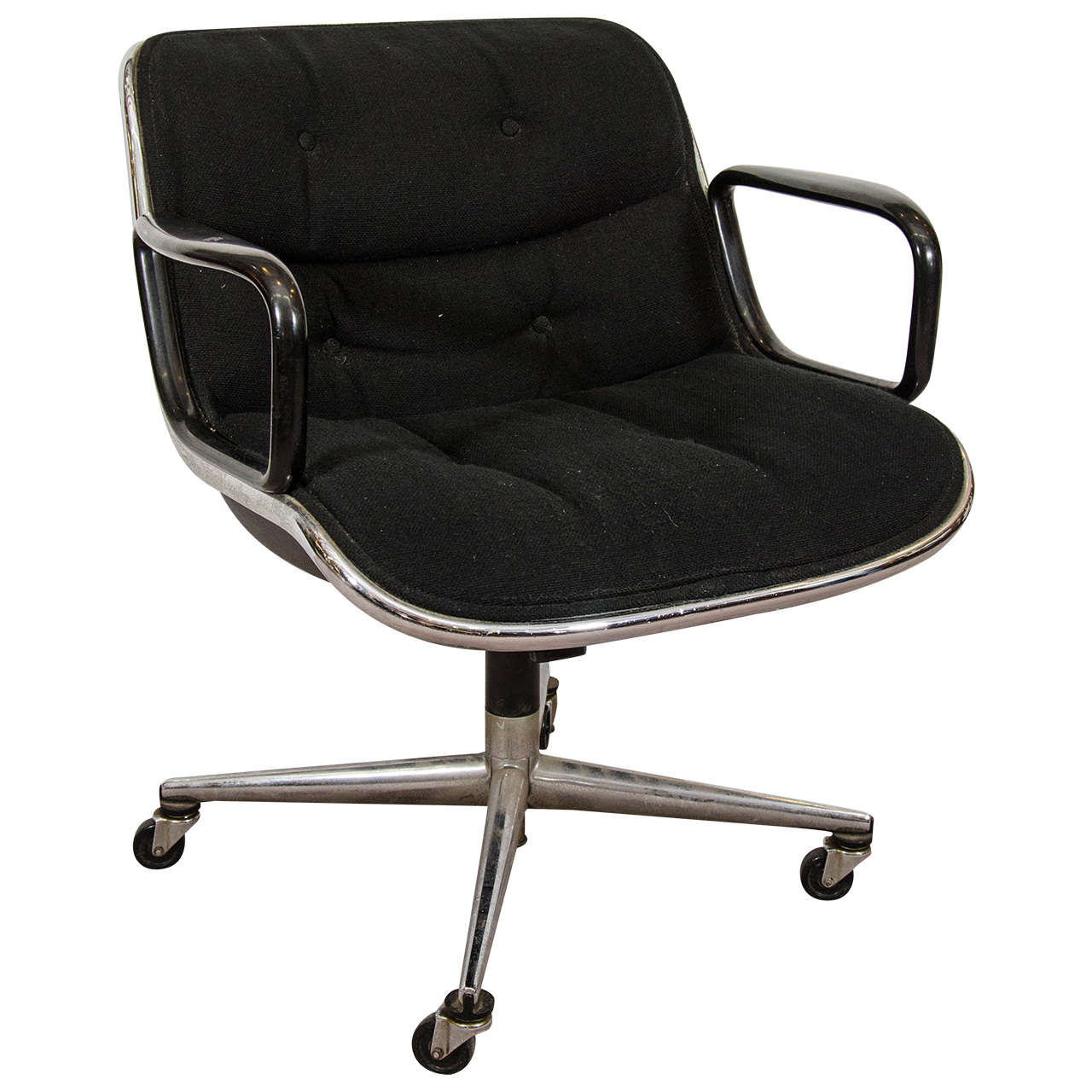 Knoll Pollock Chair Midcentury Charles Pollock For Knoll Executive Chair With