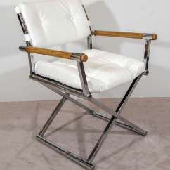Leather Directors Chair High Covers Target A Midcentury Pair Of White Director 39s Chairs