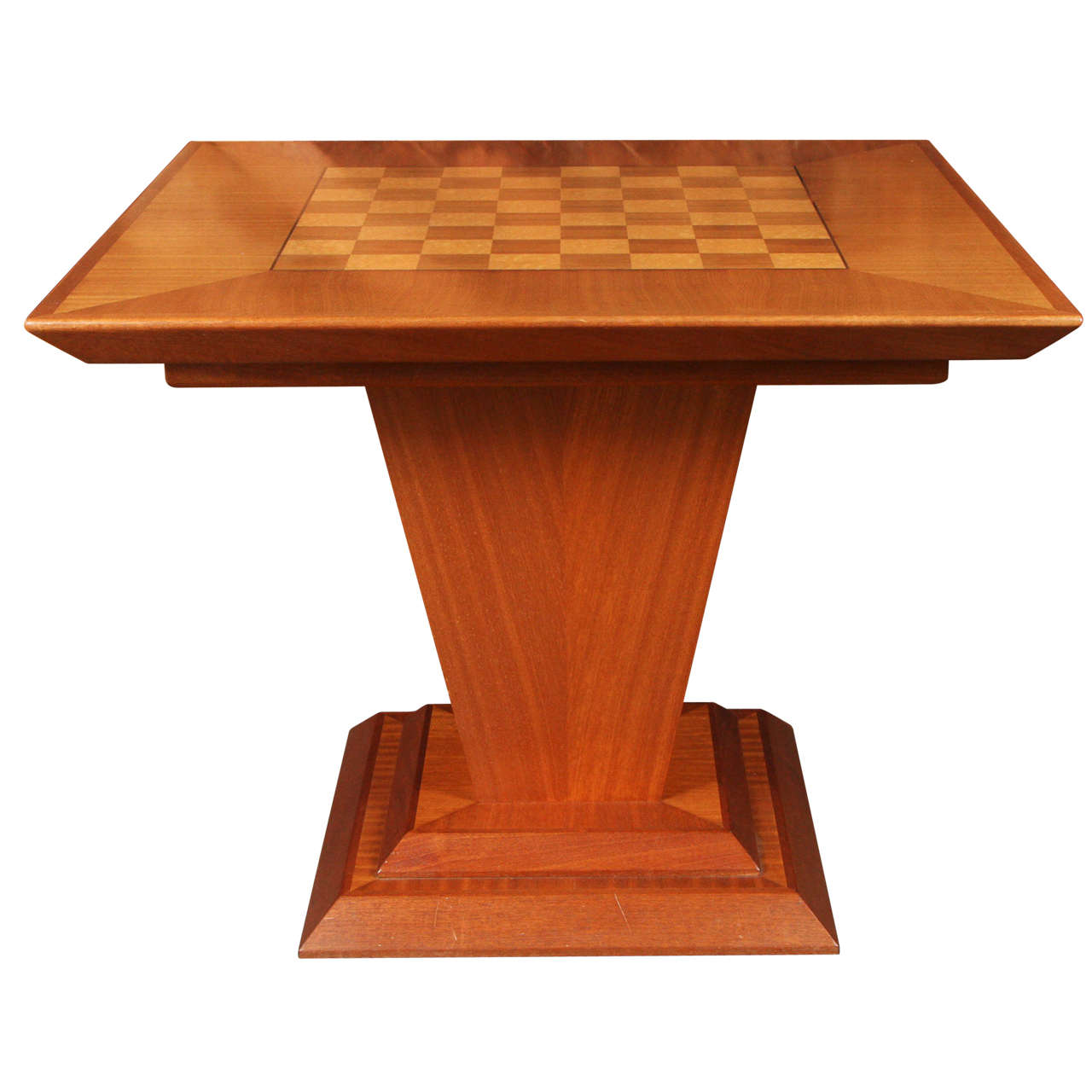 chess table and chairs high chair restraints vintage game in teak with bird 39s eye maple