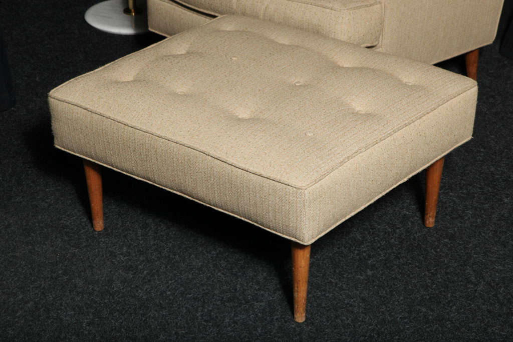 Tall Man Chair And Ottoman By Edward Wormley For Dunbar At