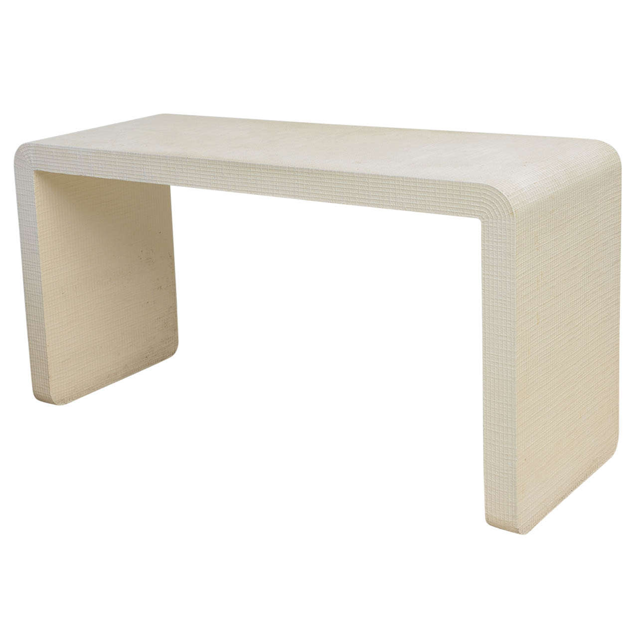 modern white sofa table right hand an american murano linen quot waterfall console