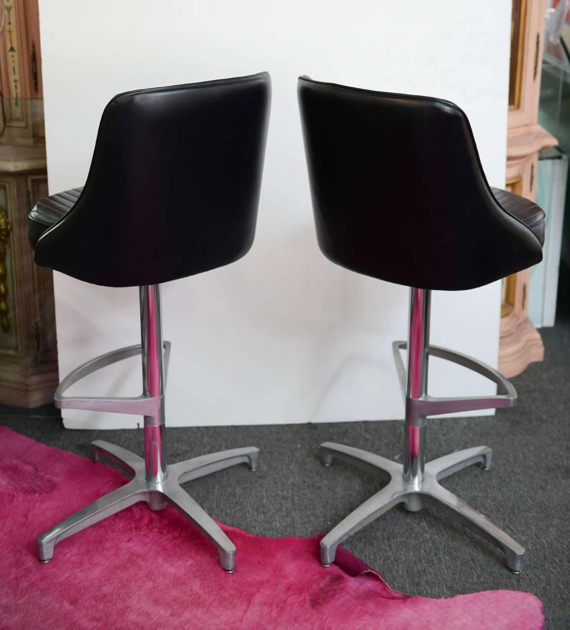 the revolving chair miami dental assistant chairs 1960s mod mid century modern chromcraft barstools at 1stdibs