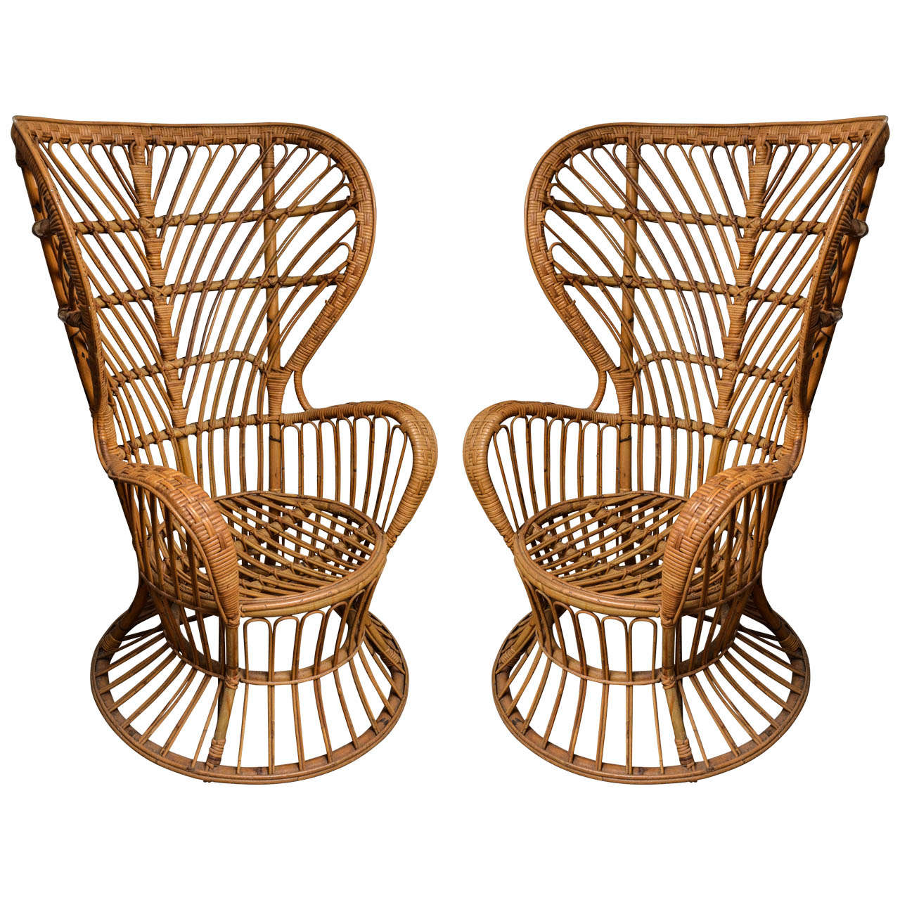 cane chairs for sale swing chair no stand pair of by lio carminati at 1stdibs