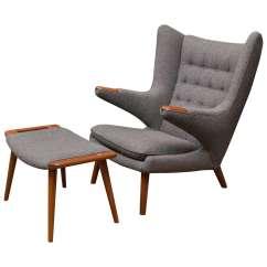 Papa Bear Chair Bedroom Gumtree Melbourne Hans Wegner And Ottoman At 1stdibs