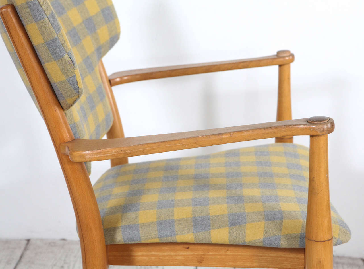 yellow and grey chair white modern dining chairs peter hvidt bentwood in check