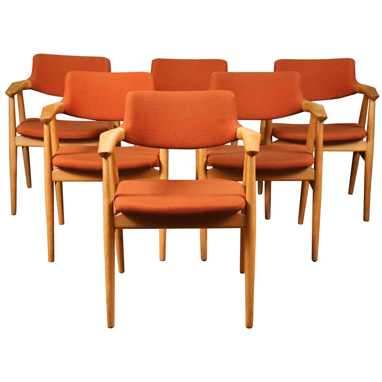 danish dining chair eddie bauer multi stage high six modern chairs by erik kirkegaard at 1stdibs