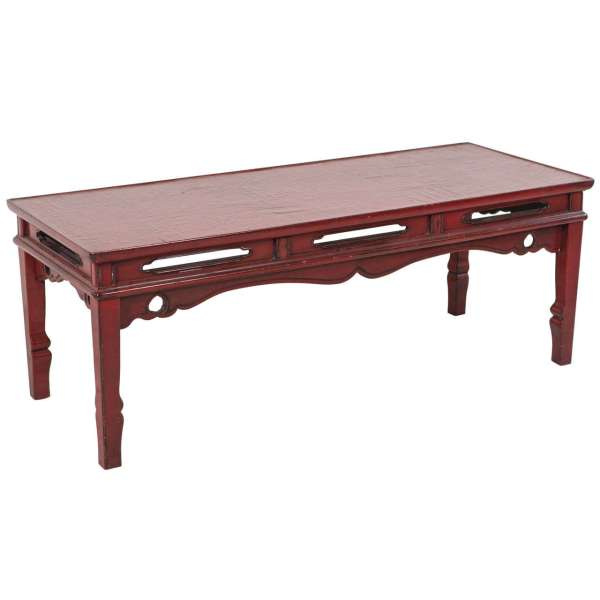 Red Lacquer Chinese Bench Coffee Table 1stdibs
