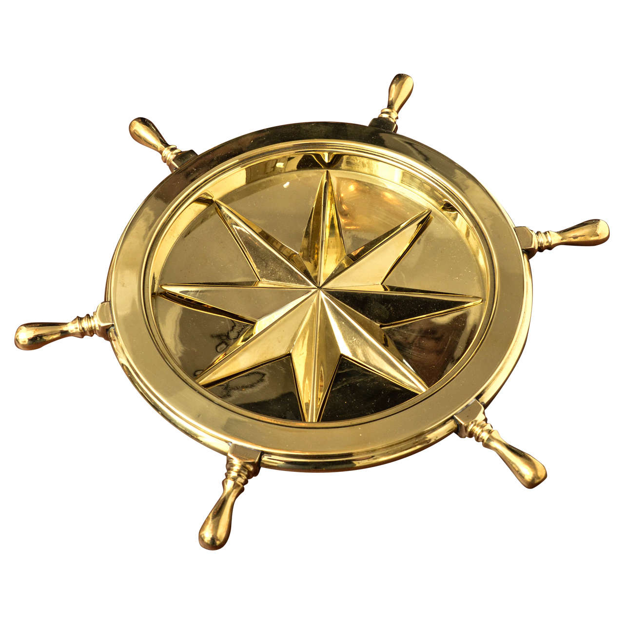 revolving chair wheel price in pakistan bamboo office mat nautical themed brass ash tray with rotating ship