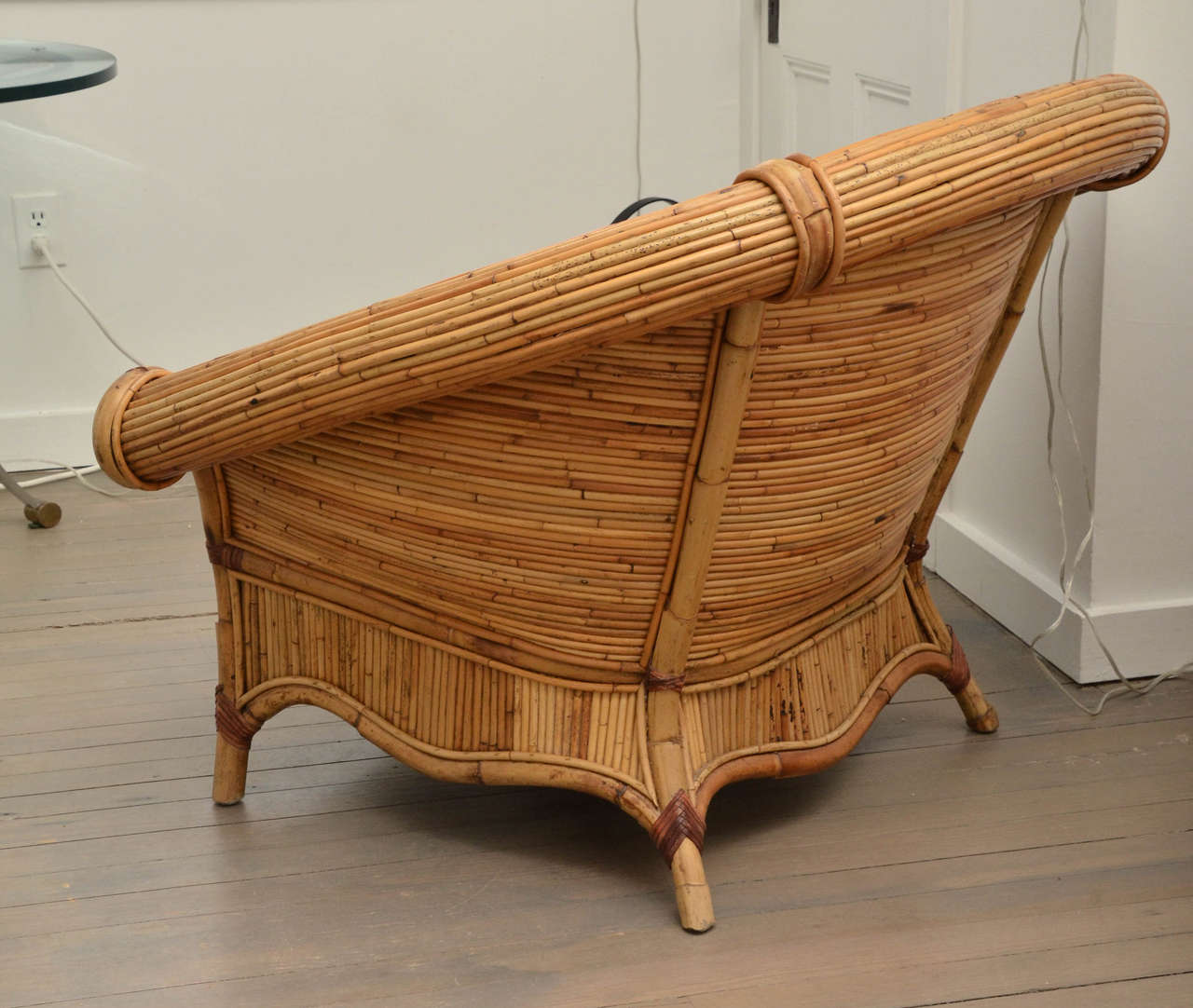 large wicker chair cushions with ties australia pair of rattan chairs upholstered linen