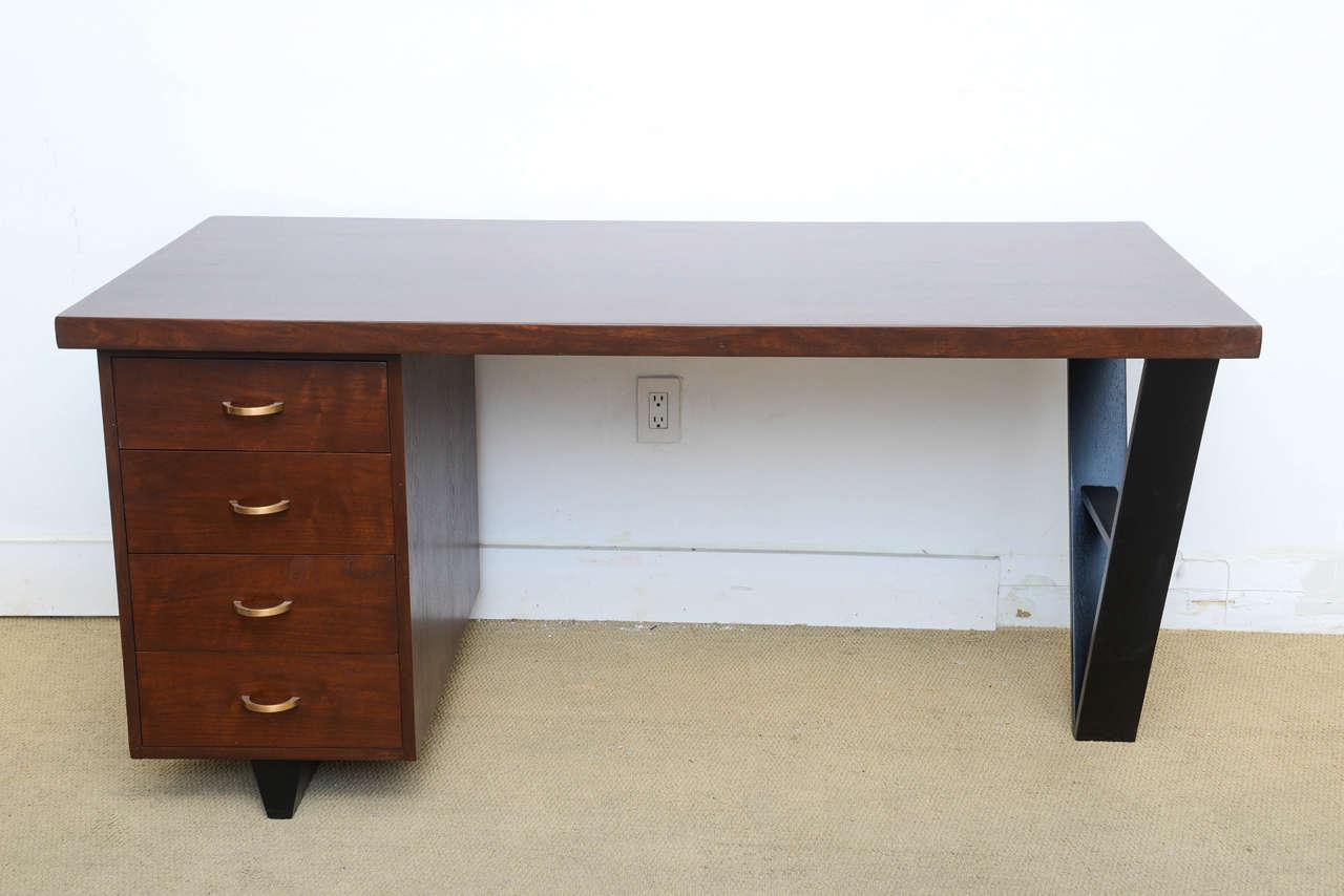 1950s MidCentury Modern Vintage VShaped Desk at 1stdibs