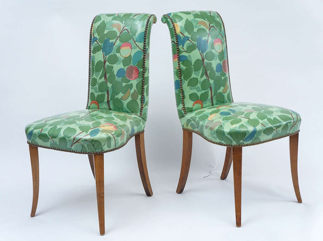 Floral Chairs Wonderful Vinyl Dining Or Chairs In Chic Floral Print With