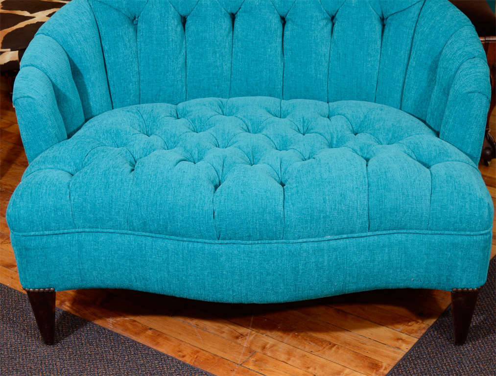modern white leather club chair sofa and set vintage turquoise blue tufted