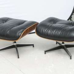 Eames Style Lounge Chair And Ottoman Rosewood Black Leather Bar Chairs For Sale Two Vintage