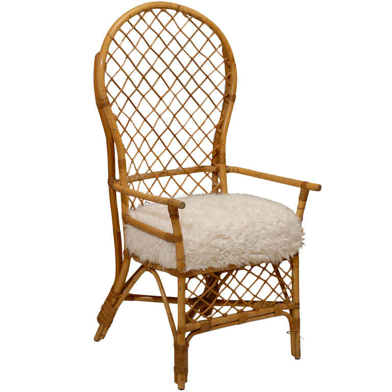 rattan arm chair outdoor sling replacement fabric high back chairs at 1stdibs