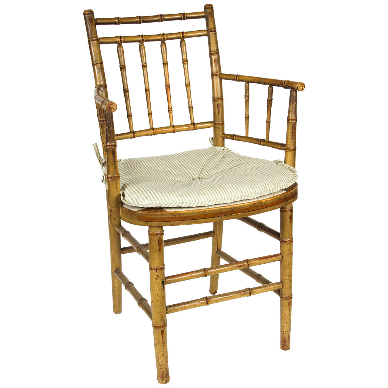 american leather swing chair summit trophy review english regency faux bamboo armchair at 1stdibs