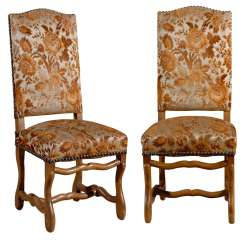 Country French Chairs Upholstered Oversized Folding Chair With Canopy Set Of 8 Dining At 1stdibs