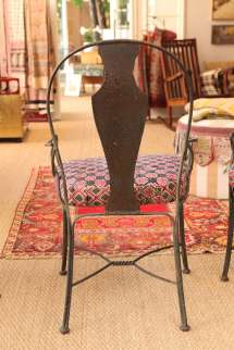 Metal Patio Chairs With Upholstered Seats 1stdibs