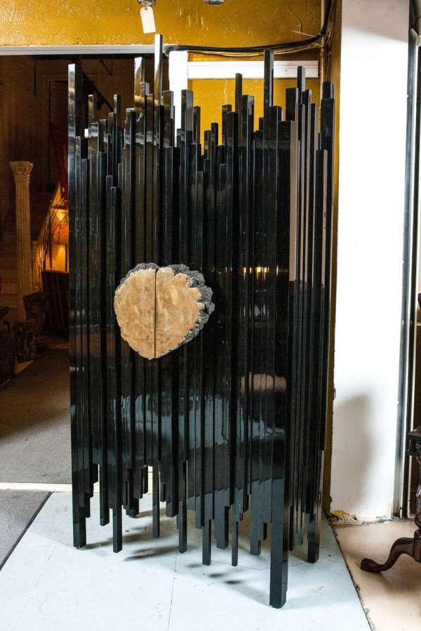 Ebonized Abstract Armoire Hudson Furniture Company Ny 1stdibs