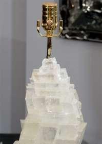 Pair of Stacked Rock Crystal Lamps at 1stdibs