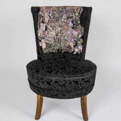 Small Black Chair Club With Ottoman Unique Rock And Roll Style 39boudoir 39