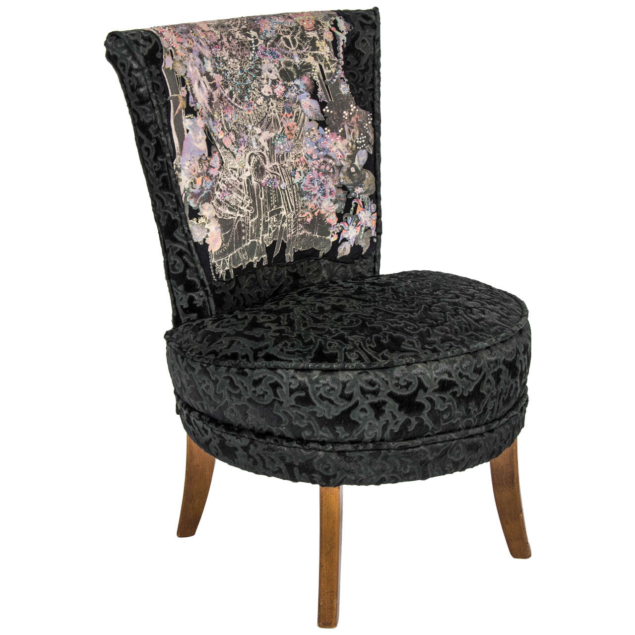 small black chair flash furniture chairs unique rock and roll style 39boudoir 39
