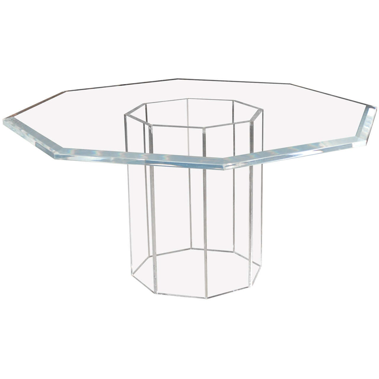 Magnificent Lucite Octagonal Table At 1stdibs