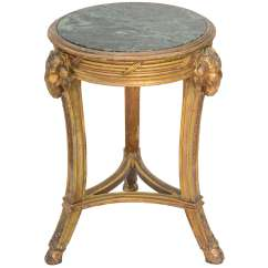 Round Marble Table And Chairs Chair A Half Slipcovers T Cushion Classical Form Giltwood With Top At 1stdibs