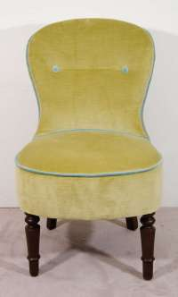 Pair of Victorian Petite Fireside Armless Chairs at 1stdibs