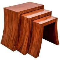 Set of Three Mid Century Nesting Tables with Tapered ...