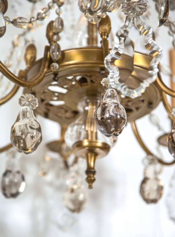 Bronze And Crystal Chandelier 1stdibs