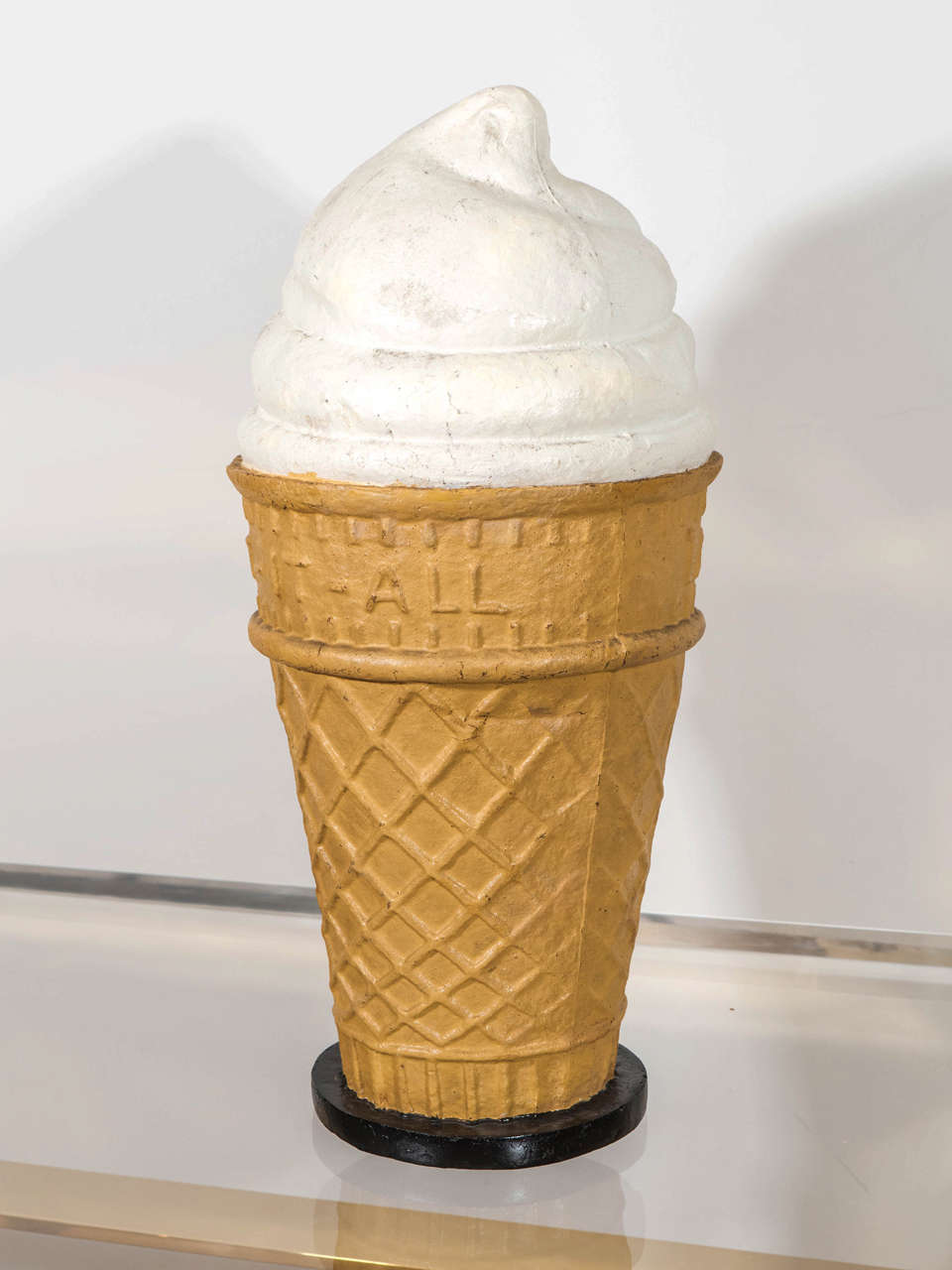 Composition Ice Cream Cone Promotional Display USA 1940s