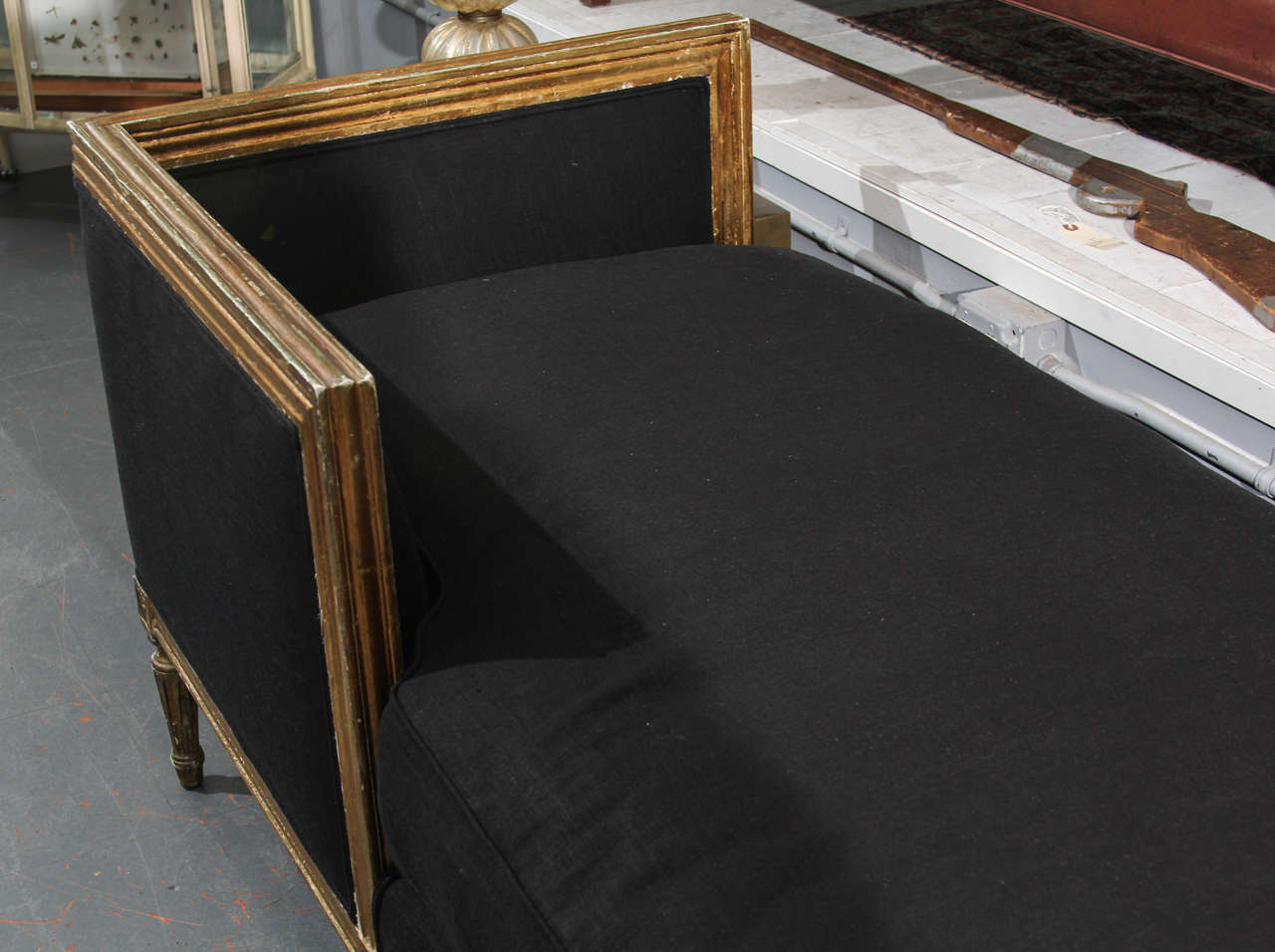 custom sofas seattle wa bedroom single sofa black linen tête-à-tête at 1stdibs