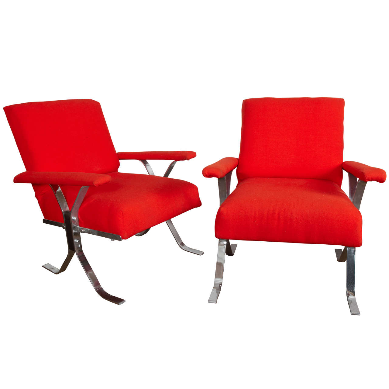 wood lounge chairs crate barrel mid century pair of steel and for sale