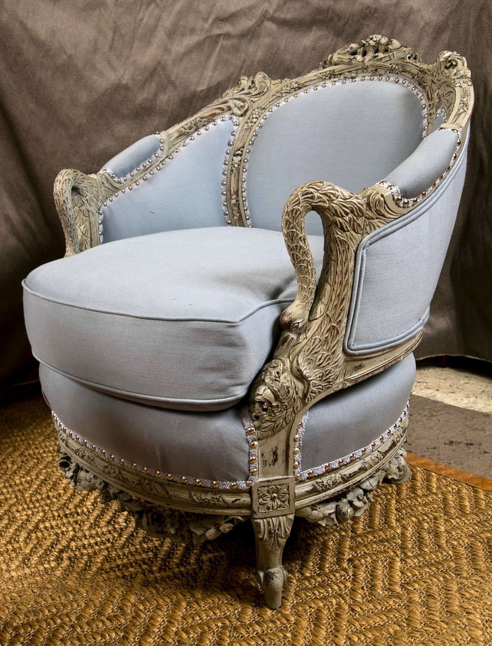 Swan Chair An Antique Swedish Painted Decorated Swan Arm Chair At 1stdibs