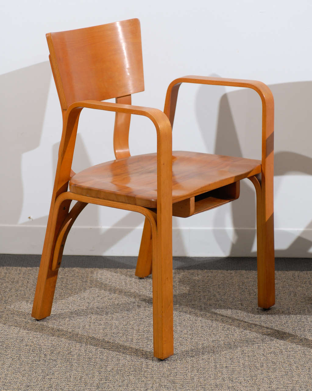 Bent Plywood Chair An Unusual Pair Of Bent Plywood Arm Chairs By Thonet At
