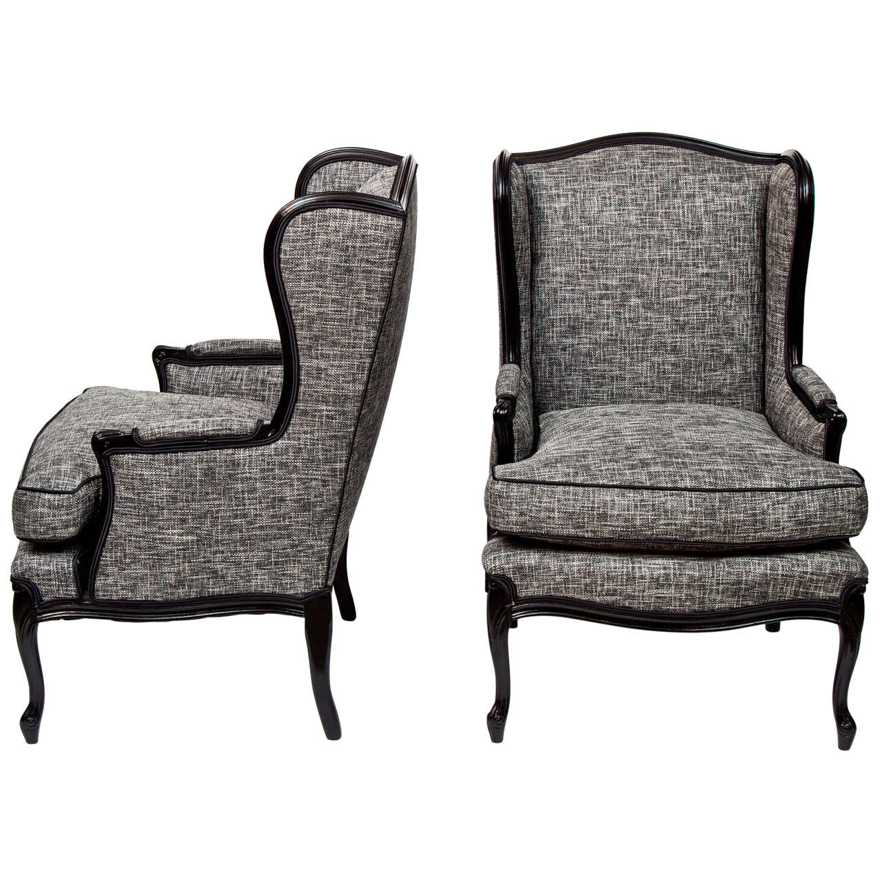 White Wing Chair Pair Of Tall Wingback Chairs