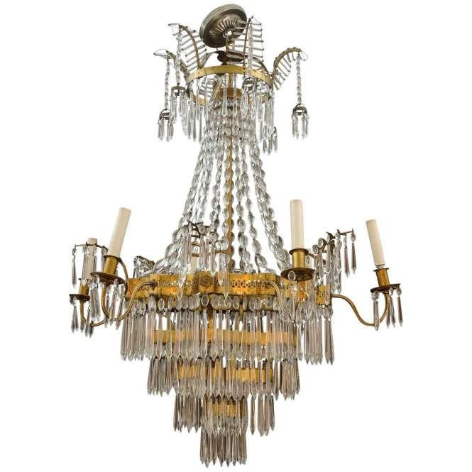 Elegant Russian Neoclassical Chandelier For