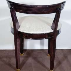 Folding Umpire Chair Kitchen Table With Rolling Chairs Art Deco Vanity Low Back Design In Ebonized