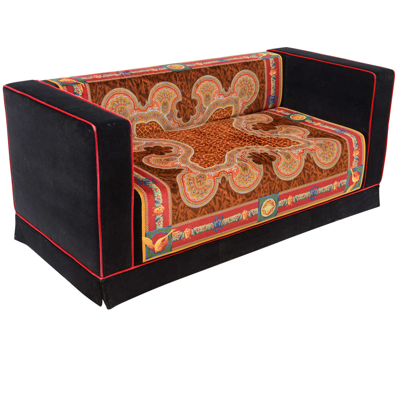 percival lafer sofa luxe bobs versace divan at 1stdibs