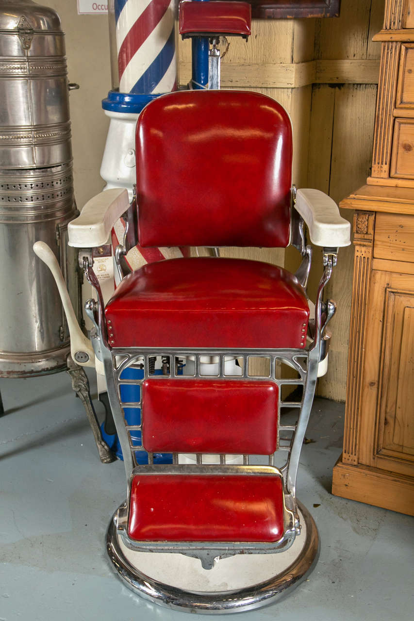antique wood barber chair styles of chairs emil j paidar at 1stdibs for sale 4