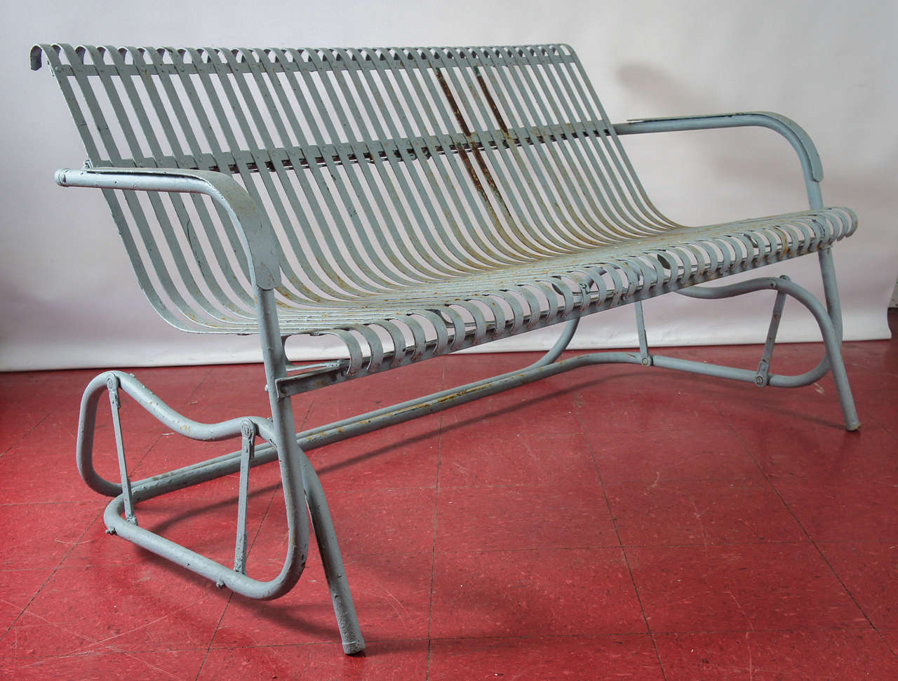 old fashioned metal lawn chairs french country chair pad glider at 1stdibs