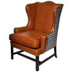 Leather Wingback Chairs Childrens Garden Table And Wing Chair At 1stdibs