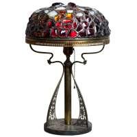 Art Nouveau Chunk Jewel Lamp at 1stdibs
