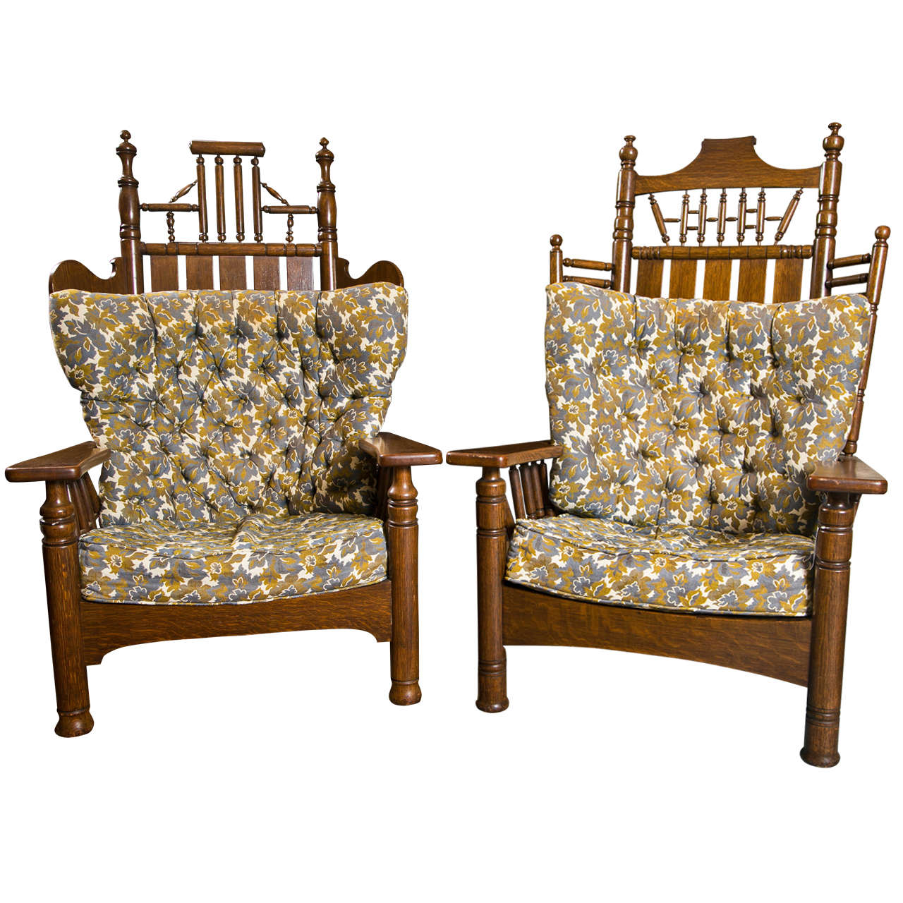 Queen Chairs Antique Oak Pair Of King And Queen Chairs For Sale At 1stdibs