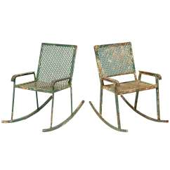 Wrought Iron Rocking Chair 24 Inch Pair Of Children 39s Rockers At 1stdibs