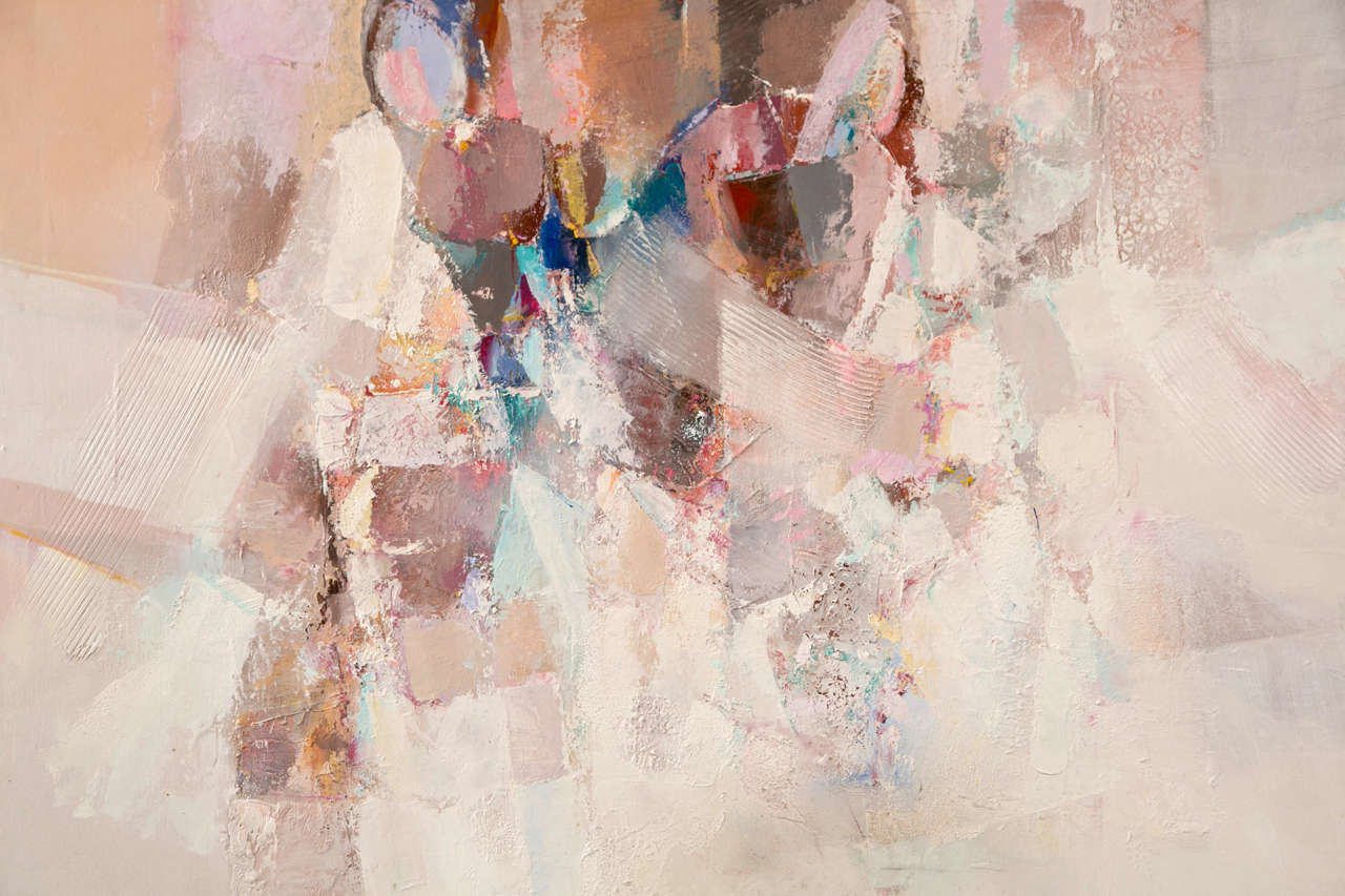 pastel abstract painting by